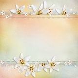 Wedding  background. With flowers for congratulations and invitations Royalty Free Stock Image