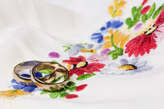We wedding background in folk style Royalty Free Stock Photo