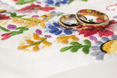 We wedding background in folk style Royalty Free Stock Photography