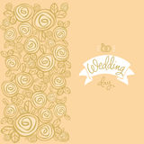 Wedding background and greeting inscription Stock Image