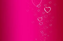 Wedding background. Heart bubble background pink Stock Photos