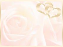 Wedding background , invitation. Gold and white wedding background royalty free stock photos