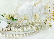 Wedding background with Pearl Royalty Free Stock Photography