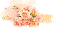 Wedding background with rings Stock Images