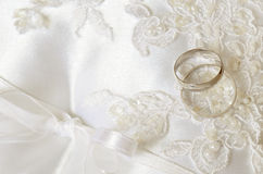 Wedding background with rings Stock Photography
