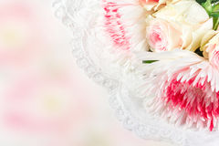 Wedding background with roses Royalty Free Stock Image