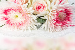 Wedding background with roses Royalty Free Stock Photos