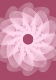 Wedding background template with white outline fantasy flower shape on dark pink area. Vector EPS 10 Royalty Free Stock Images
