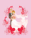 Wedding background. Vector illustration  Stock Photos