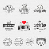 Wedding badges cards and labels for any use Stock Photos