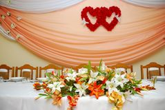 Wedding ballroom Stock Image