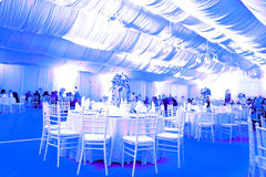 Wedding ballroom, blue color Stock Images