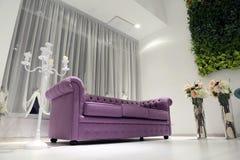 Wedding ballroom couch Stock Photography