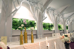 Wedding ballroom Stock Images