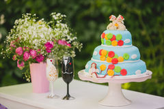 Wedding baloon cake Royalty Free Stock Photos
