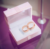 Wedding bands in the box Royalty Free Stock Image