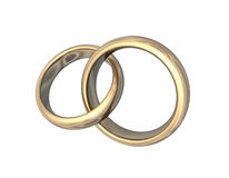 Wedding Bands Gold 3D Love Stock Photos