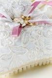 Wedding bands pillow Stock Images