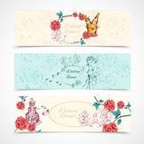 Wedding Banners Set Royalty Free Stock Photography
