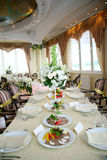 Wedding banquet. Elegant tables and chairs set up for a wedding banquet Stock Photography