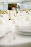 Wedding banquet. Elegant tables and chairs set up for a wedding banquet Royalty Free Stock Images