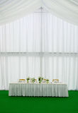 Wedding banquet. Elegant tables and chairs set up for a wedding banquet Royalty Free Stock Photo