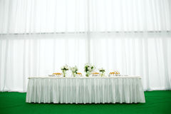 Wedding banquet. Elegant tables and chairs set up for a wedding banquet Stock Photo