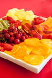 Wedding banquet. Some decoration with fruit during a wedding banquet royalty free stock image