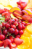 Wedding banquet. Some decoration with fruit during a wedding banquet royalty free stock photos