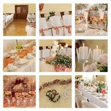 Wedding Banquet. Collage Stock Image