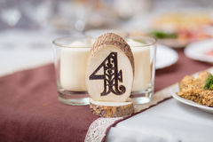Wedding Banquet Decoration Royalty Free Stock Images