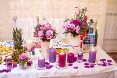 Wedding Banquet Decoration Stock Image