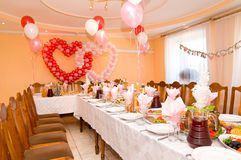 Wedding banquet hall Stock Image