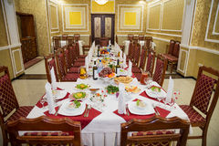 Wedding banquet hall Royalty Free Stock Image