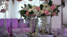 Wedding banquet hall. stock footage