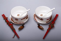 The Wedding Banquet with the porcelain Stock Photography