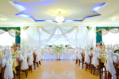 Wedding banquet room Stock Photo