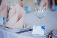 Wedding banquet, small restaurant in Maritime style Stock Photo