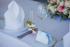 Wedding banquet, small restaurant in Maritime style Stock Photography
