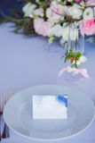 Wedding banquet, small restaurant in Maritime style Royalty Free Stock Photos