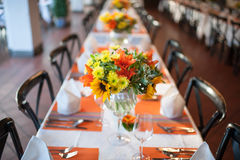 Wedding and Banquet table Stock Photography