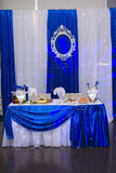 Wedding Banquet table Royalty Free Stock Photo