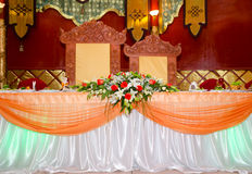 Wedding banquet table - oriental style Royalty Free Stock Photography