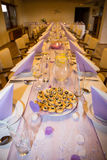 Wedding banquet table setting. For wedding Royalty Free Stock Photography