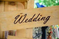 Wedding bar sign indoor Stock Images