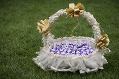 Wedding basket Royalty Free Stock Images
