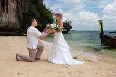 Wedding on the beach Royalty Free Stock Photography