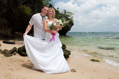 Wedding on the beach Royalty Free Stock Images
