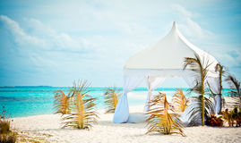 Wedding on the beach. Get married on beach on this beautiful location at the Maldives Royalty Free Stock Images