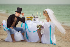 Wedding on beach Stock Image